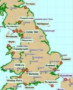 carte centrales UK